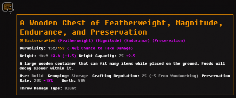 Mastercrafted Chest